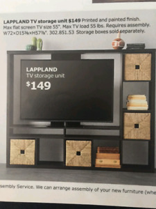 "Ikea ""Lappland"" TV unit for sale"