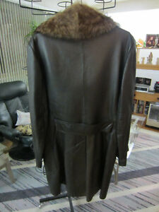 Real Leather winter coat by MacMor - $40 West Island Greater Montréal image 2