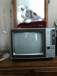 12 inch TV brown cabinet