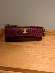 Channel Red Clutch Purse