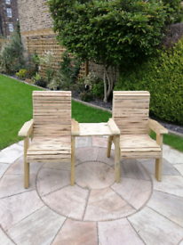 Jack and Jill chair twin seats with table Premium grade quality