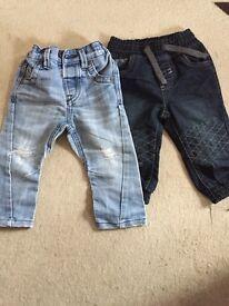 2 x baby boy jeans