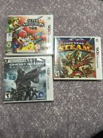3DS games lightly used, excellent condition