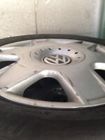 VW rims and used tires