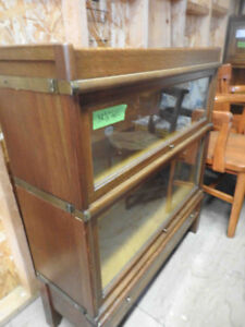 """antique barrister bookcase, 2 glass sections high (38"""" tall)"""