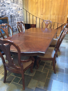 Beautiful Dining Room Table and Eight Chairs