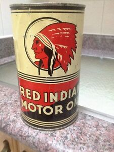 RED INDIAN OIL CAN #1 (QUART )