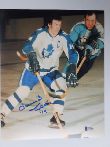 Dave Keon Toronto Maple Leafs Signed 8x10 Photo With COA
