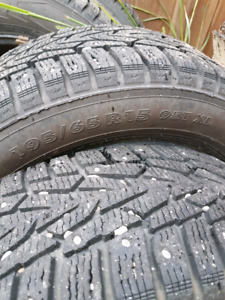 Hakkapelliita Studded Winter Tires 195/65R15 on Rims