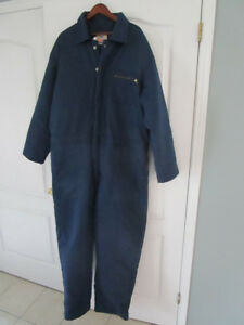 MENS BLUE COVERALLS SIZE 3XL INSULATED FOR WINTER