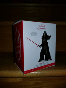 STAR WARS THE LAST JEDI KYLO REN CHRISTMAS DECORATION NEW IN BOX