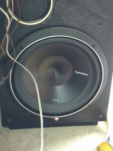 "Rockford P3 12"" subwoofer with pioneer amp"