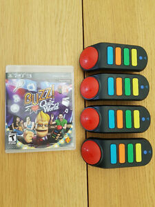 Buzz Quiz Controllers and USB stick for PlayStation 3