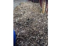Free good quality wood chippings - up to £5 a bag in garden centres!