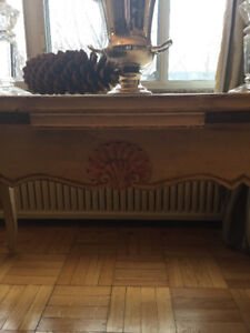 French Country Antique Farmhouse Dining Table circa 1945