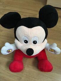 Talking mickey plush toy