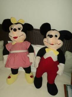 Vintage Rare Mickey & Minnie Plush Toys Hillside 3037 Melton Area Preview