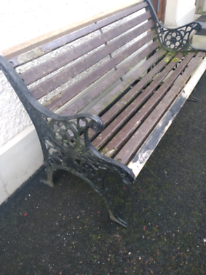 Cast Ended Garden Bench
