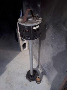 pompe submersible,2 rampe escalier,lame scie et meule de macon
