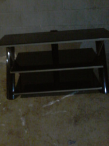 T.v black glass stand