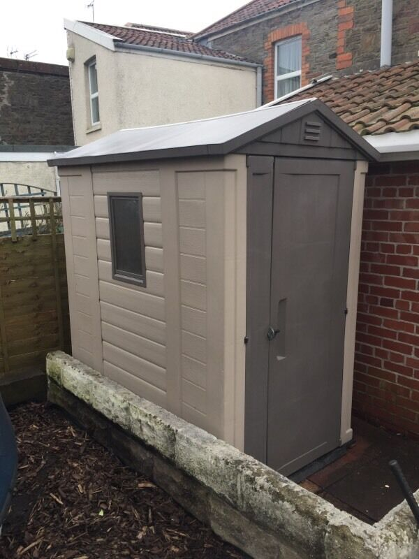 Keter 6 x 4 plastic shed in staple hill bristol gumtree for Garden shed edinburgh sale