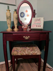 Beautiful vanity table and stool