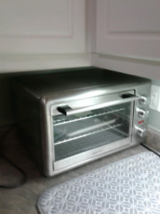 Toaster oven with rotisserie