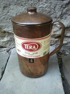 TERA India Pure Copper 1.6 L Water Jug/Pitcher With Lid