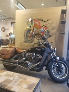 Like New Indian Scout + FREE AWESOME METAL ART