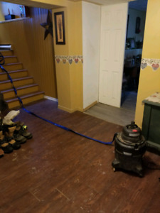 Shop vac with built in water pump.
