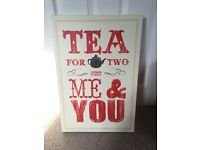 Next canvas - tea for two shabby chic