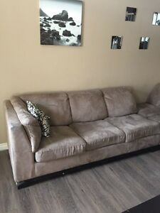Microfiber Sectional with Pullout Futon