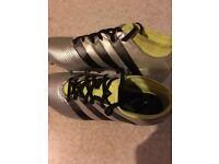 Adidas football boots.