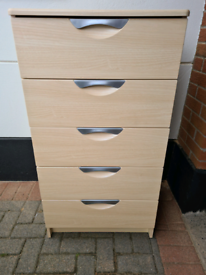 ***REDUCED*** Starplan 'Allure' Chest of 5 Drawers - Ash