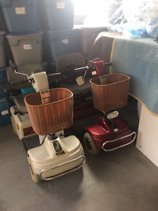 2 as new shoprider scotters, $600 each both for $1050.00