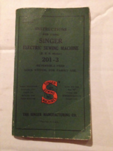 Singer sewing machine Manual  - 201-3