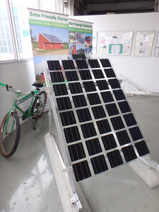 semi-transparent solar panel Glass-Glass for power and light