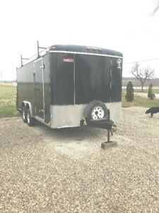 8x16 ENCLOSED CARGO / CAR TRAILER FOR RENT