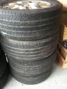 Set of 4 - 225/60R16 Michelin All Season Tires and Rims