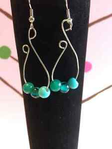 Silver plated earring with beads London Ontario image 3