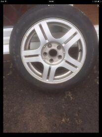 Brand new tyre on wheel