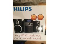 Philips DAB radio micro system with cd and iPod attachment
