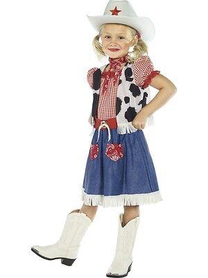 dchenkostüm NEU - Mädchen Karneval Fasching Verkleidung Kostü (Mädchen Cowgirl Weste)