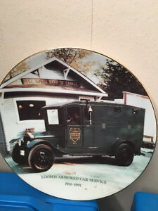 "Limited Edition ""Numbered"" Collector Plate - Loomis Armoured Car"