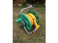 Hozelock hose, reel and spray gun