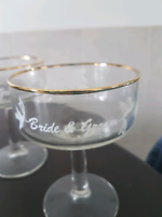 Bride & Groom Wedding Glass
