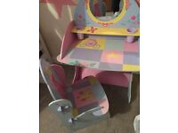 Princess dressing table and chair
