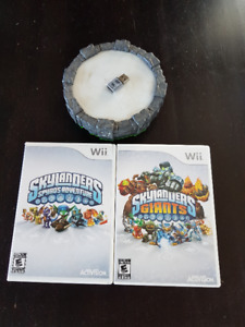 Two Skylanders Discs and Portals for the Wii