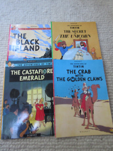 4 Adventures of Tintin Bks - In great condition