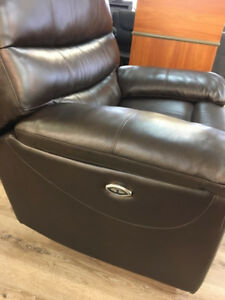 Power Reclining - Genuine Italian Leather Chair